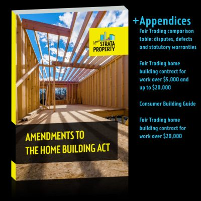 Amendments to The Home Building Act eBook cover