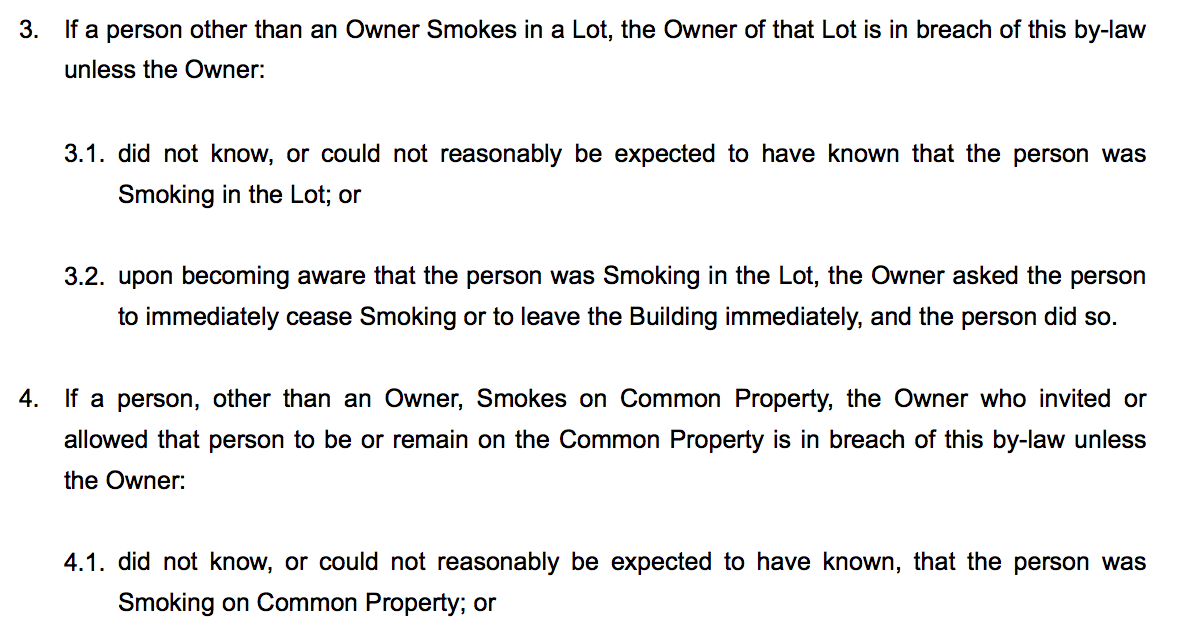 No Smoking Bylaw Template Your Strata Property - By law template